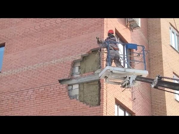 Из-за чего треснула облицовочная кладка одного из домов в Дёмском районе Уфы