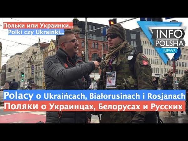 Поляки об Украинцах, Белорусах и Русcких Polacy o Ukraińcach, Białorusinach i Rosjanach - Опрос1