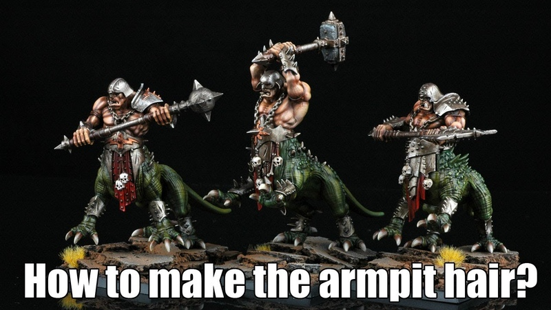 How to make the armpit hair on the Warhammer Fantasy models