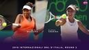 Venus Williams vs. Elena Vesnina 2018 Internazionali BNL dItalia Second Round WTA Highlights