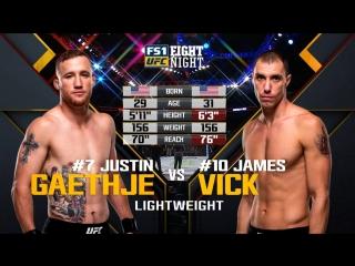 UFC_FN_135 Justin Gaethje vs. James Vick