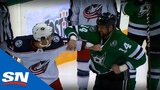 Jamie Benn &amp Josh Anderson Exchange Fists In Huge Tilt