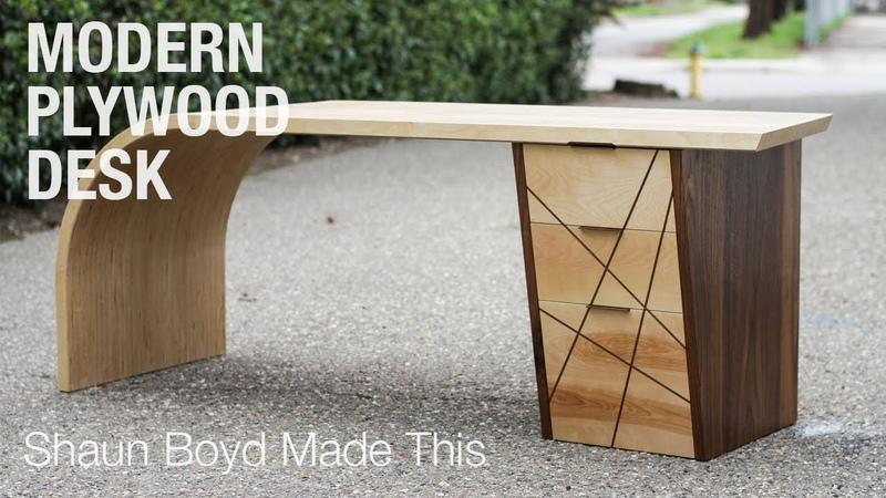Building a MODERN Plywood Desk Shaun Boyd Made This