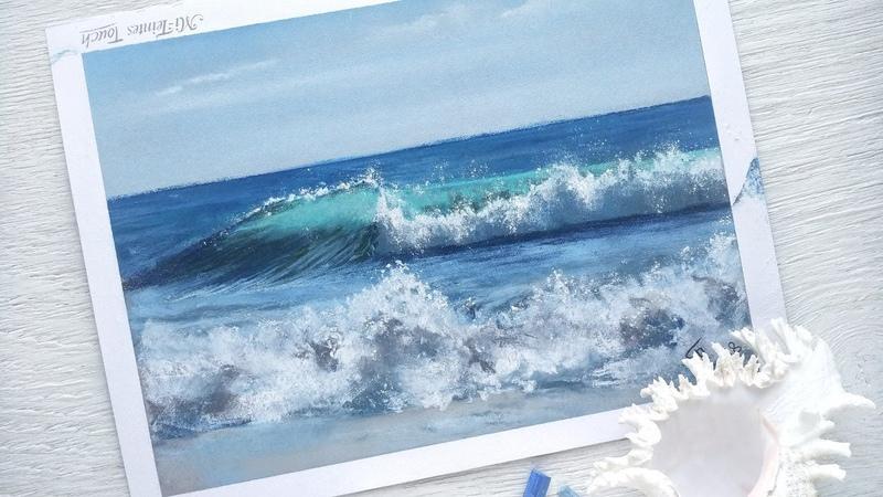 Море пастелью