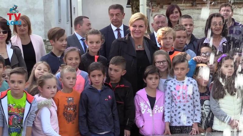 Predsjednica RH Kolinda Grabar-Kitarovć u Perušiću 05.09.2017.