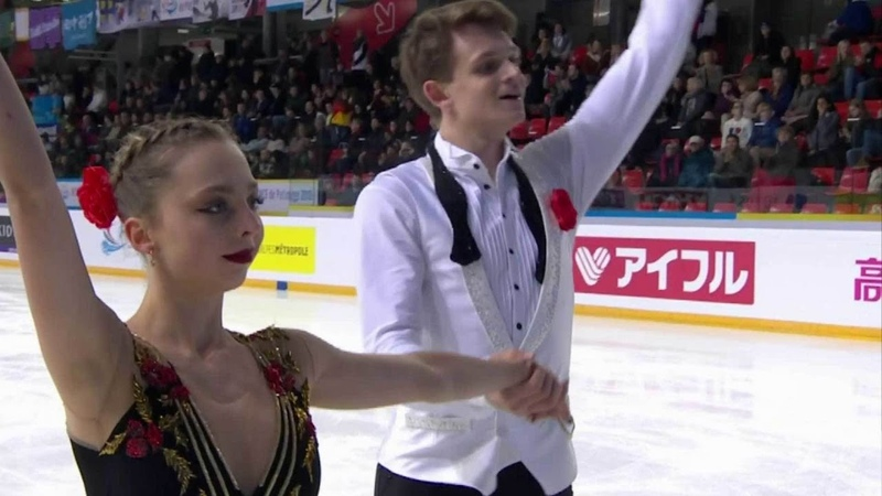 Александра Бойкова и Дмитрий Козловский лидируют после короткого проката! Короткая программа. Пары.