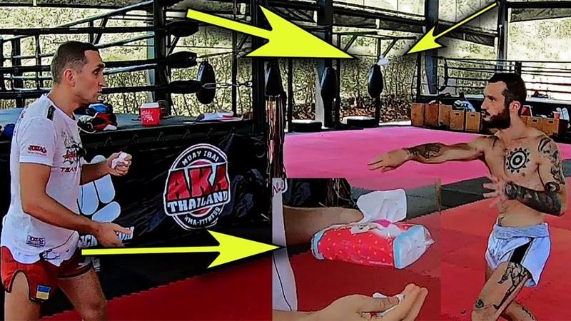 Нестандартная тренировка удара c салфеткой Custom training punch with a napkin