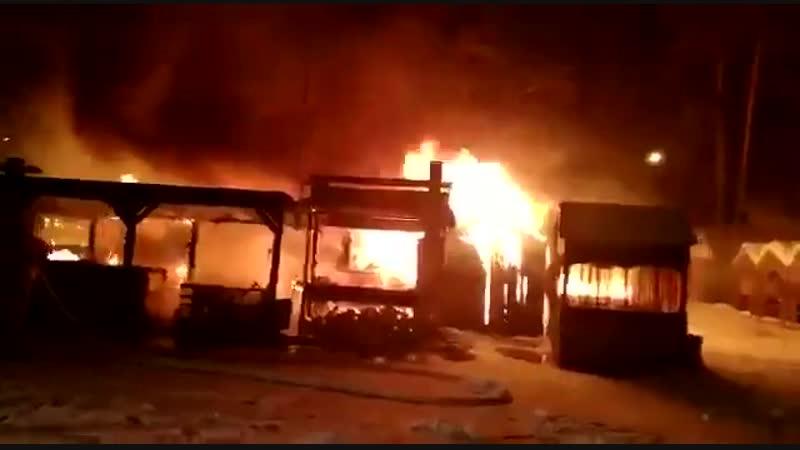 Пожар у Лебяжьего озера 16.01.2018