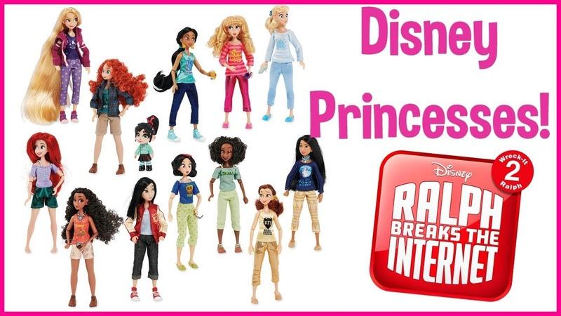 ОБЗОР сета Disney Princess Casual Outfits Ralph Breaks the Internet Doll