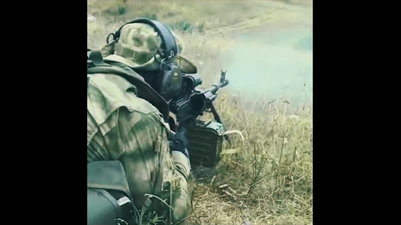 Спецназ Работа с Пулеметом Калашникова ПКМ
