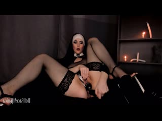 Dollfacemonica (manyvids  sinful nun dares to beg for priest cum)