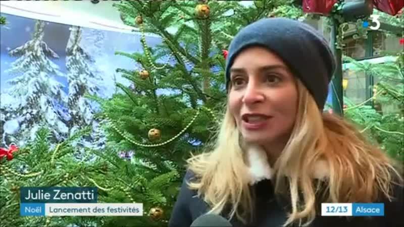 12 13 France 3 Alsace - Lancement des illuminations de Noël à Strasbourg - 23 Novembre 2018