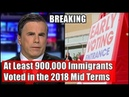 At Least 900,000 Immigrants Voted in the 2018 Mid Terms