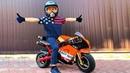 BABY Biker Unboxing Test Drive Sportbike ЛЕВ КУПИЛ БАЙК Ride On POWER WHEEL BIKE