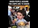 Когда у тябя забрали чипсину