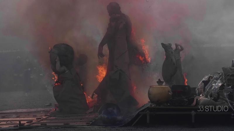 Cai Guo-Qiang's Explosion Studio in Pompeii, 2019. Directed by Shanshan Xia.