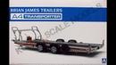 Обзор Brian James Trailers A4 Transporter Aoshima 1 24 сборные модели