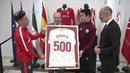 Homenaje del Sevilla FC a Susaeta por sus 500 partidos
