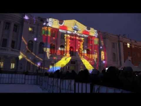 3d маппинг шоу на площади Минина и Пожарского
