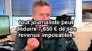 LES JOURNALISTES ONT DROIT A 7650€ DE DEDUCTIONS FISCALES LES FRANÇAIS AUCUNE