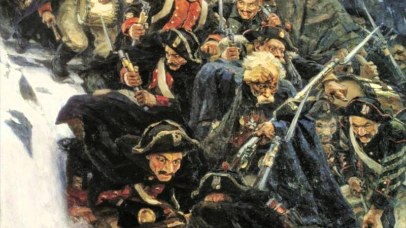 Переход Суворова через Альпы, Суриков - видео обзор картины