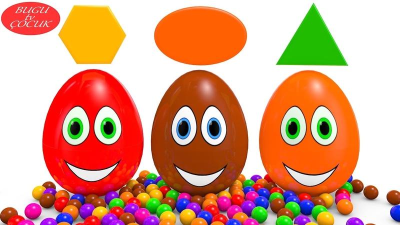 Sevimli Sürpriz Yumurtalar ile Şekilleri ve Renkleri Öğrenin