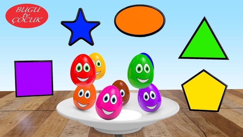 Sevimli 3D Yumurtalar ile Renkleri ve Şekilleri Öğreniyorum