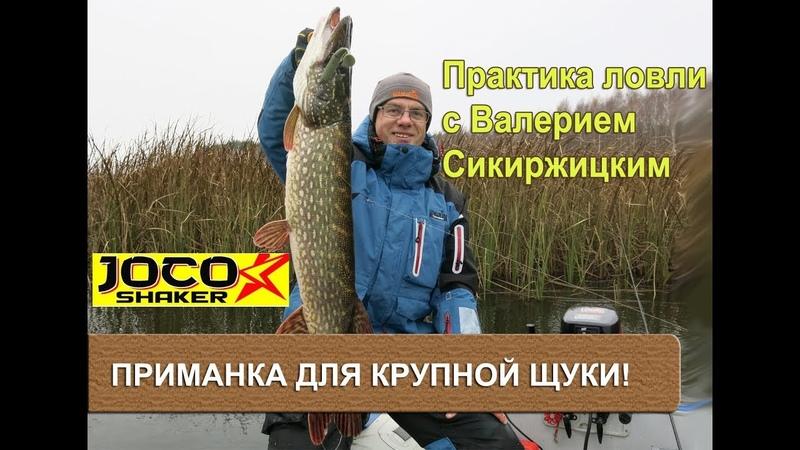 Отличная приманка для крупной щуки! Практика ловли с Валерием Сикиржицким.