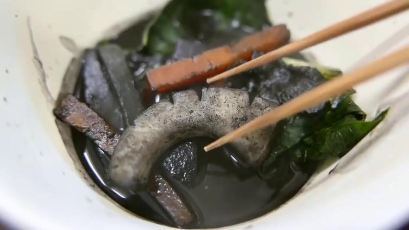 Япония Морепродукты Огромная Каракатица, Японская Уличная Еда