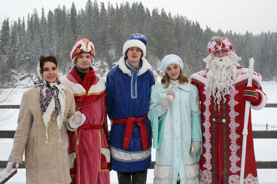 Новогодний заигрыш в Хохловке