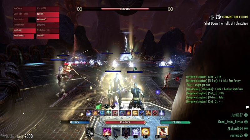 вет Halls Of Fabrication 1st boss Negatrix Positrox Soulgem Guild Run