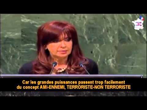 CENSURE Christina Fernandez Kirchner, présidente de l'Argentine à l'ONU le 24092014