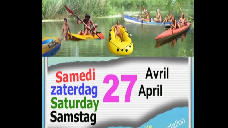 Annonce des descentes naturistes de rivière 2019