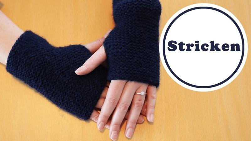 Einfachste Stulpen der Welt   stricken für Anfänger   DIY   stricken lernen