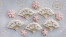 How to make SAKURA FLOWER FAN COOKIES ~ PLUS how to make fondant flower tutorial included