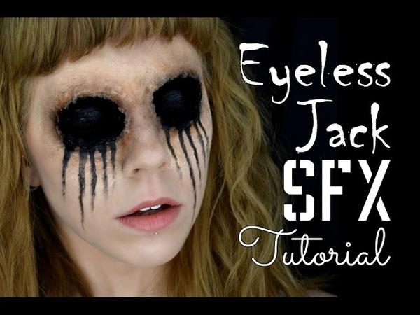 Eyeless Jack Prosthetic SFX Makeup Tutorial - Creepy Pasta
