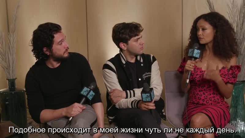 Ксавье Долан, Кит Харингтон и Тэнди Ньютон для «MTV» | TIFF 2018
