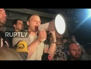 LIVE: Protest held outside Tbilisi's Rustavi 2 building after anchor abuses Putin on air