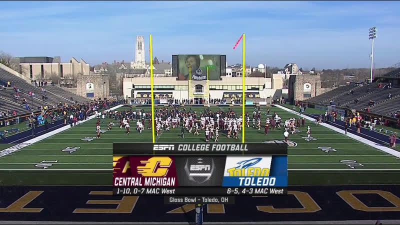 NCAAF 2018 Week 13 Central Michigan Chippewas - Toledo Rockets 2H EN