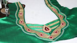 Very Easy and Beautiful Blouse Back Neck Design Cutting and Stitching With EZEE CHANNEL