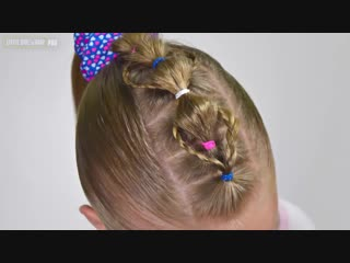 Original BUBBLE Braid Mohawk ❀ Hairstyle with elastics ❀ Quick and Easy hairstyle for girls #60