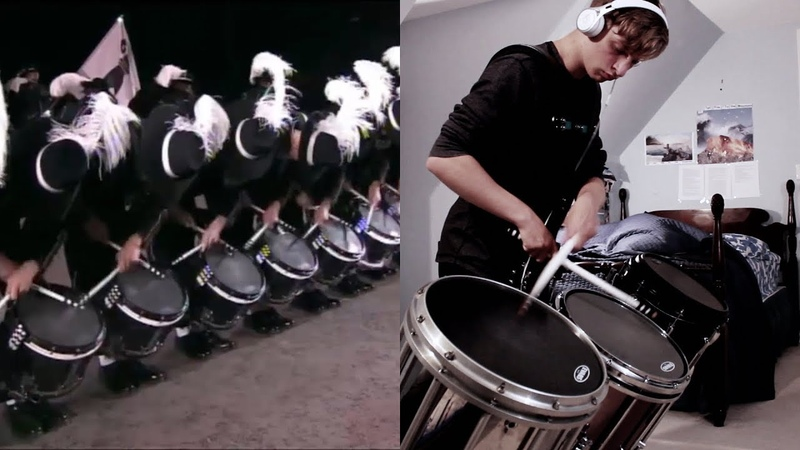 Top Secret Drum Corps - 17 Year Old Drummer Plays Alongside