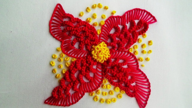 Hand Embroidery Double Caston and Blanket Stitch