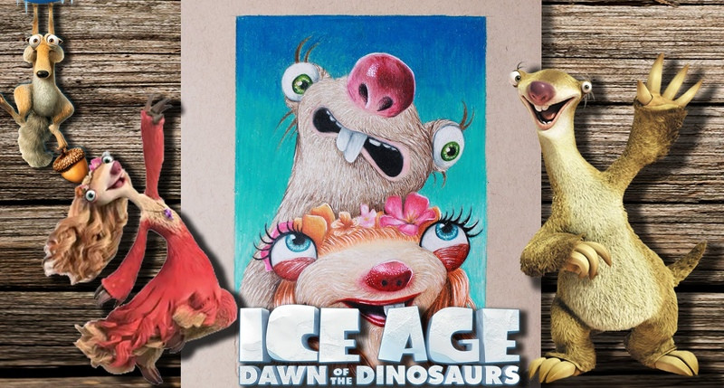 Ice Age Collision Course, Sid Brooke - How To Draw a Cartoon Character, Sloth