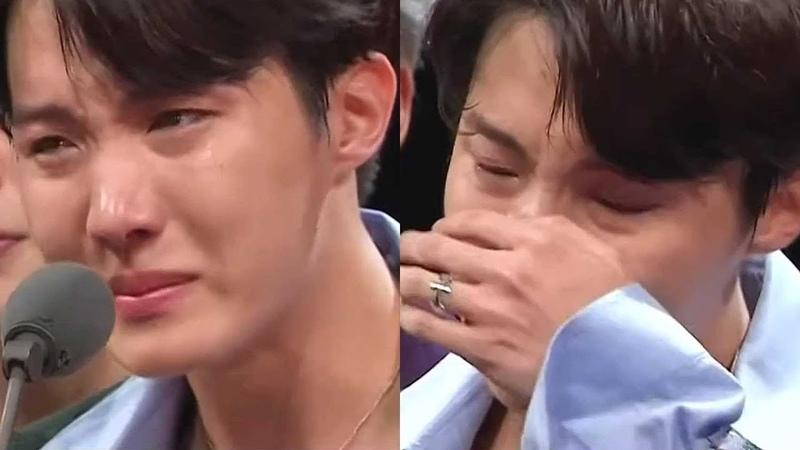 JHOPE's sobbing in MAMA 2018 방탄 제이홉 서럽게 흐느껴 우는 모습 '먹먹'