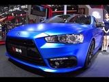 2016, 2017 Mitsubishi Lancer EX wrapped blue, 2016, 2017 Mitsubishi Lancer EX debuts in China