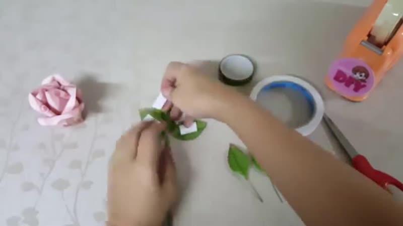 วิธีพับดอกกุหลาบจากธนบัตร