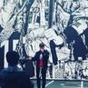 "Eiji on Instagram: ""我々のアルバムのアート壁画の前で今日も撮影🎥 musicvideoshoot"""