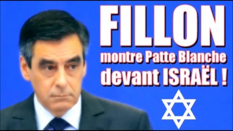 ADBK : Fillon montre Patte Blanche devant Israël ! ( 2017 )