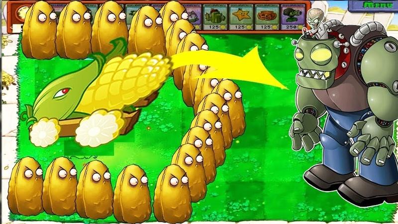Plants vs Zombies Battlez - Cob Cannon Cactus vs 99999 Zombie